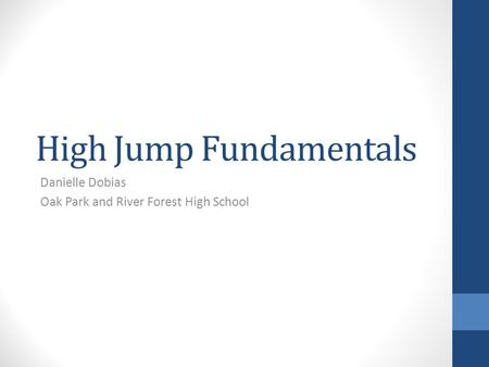High Jump Fundamentals