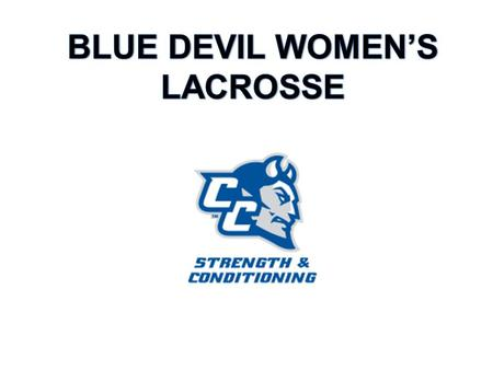 BLUE DEVILS: Over the course of winter break, you will have the opportunity to improve your physical and mental conditioning. Without the added pressure.