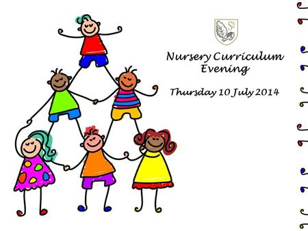 Nursery Curriculum Evening Thursday 10 July 2014.