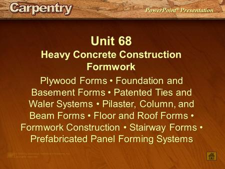Heavy Concrete Construction Formwork