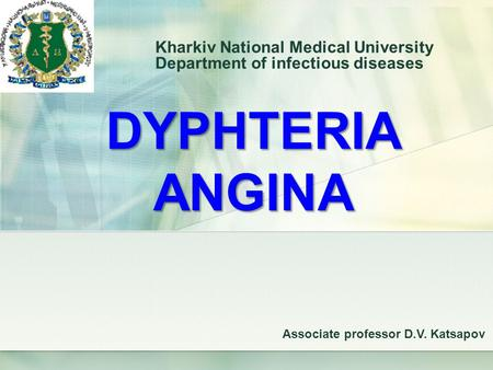 Kharkiv National Medical University Department of infectious diseases
