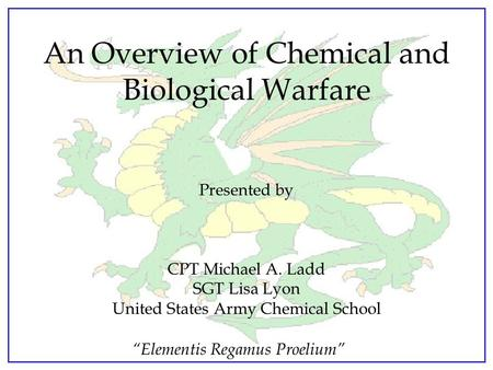future of chemical biological warfare Timeline of events in biological and chemical terror history chemical and biological warfare isn't new future kentucky governor luke blackburn.