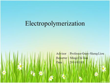Electropolymerization