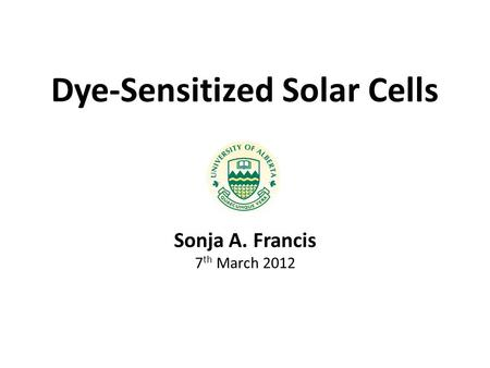 Dye-Sensitized Solar Cells