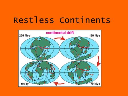 Restless Continents.