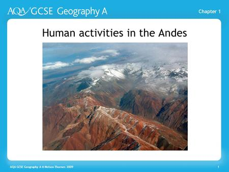 Human activities in the Andes