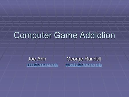 reflective journal of computer game addiction Is video game addiction real some experts say yes, and offer ways to fight back against technology's grip it starts innocently, as a time filler on a bus or a stress buster after a hard day at.