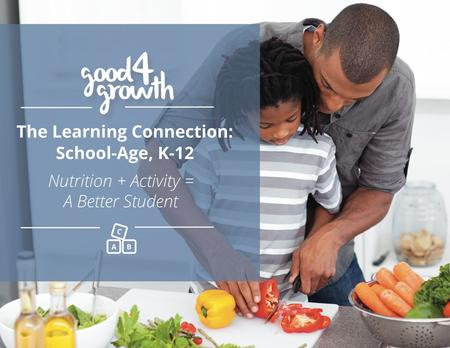 The Learning Connecion: School-Age, K-12 Nutrition + Activity = A Better Student.