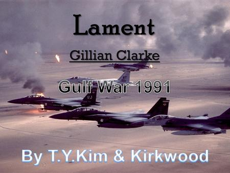 essay on lament by clarke Free gillian clarke papers, essays, and research papers  in 'lament' clarke  uses strong imagery to alert people about environmental issues caused by oil.