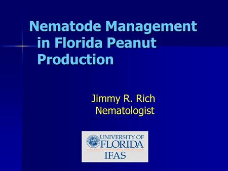 Nematode Management in Florida Peanut Production