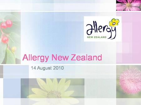 Food allergy in adults: what's new on the menu? Penny Fitzharris August 2010.
