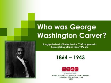 a biography of george washington carver an african american slave George washington carver is one of these innovators carver was a prominent african american scientist and inventor, best known for discovering the diversity of the peanut.