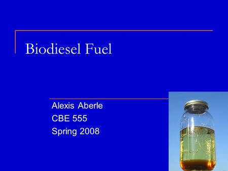 biodiesel as an alternative fuel essay Biodiesel is an alternative fuel to diesel engine that can replace or reduce the  use of petroleum diesel biodiesel is  essays 5(23), 3781 (2010) see online at .