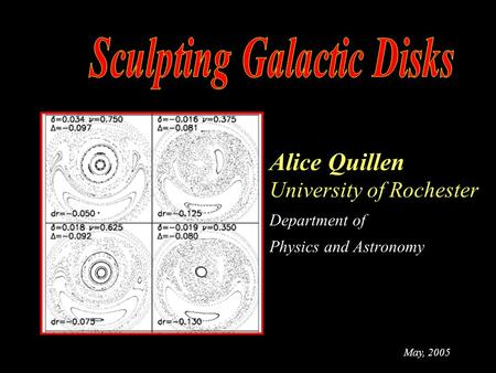 Alice Quillen University of Rochester Department of Physics and Astronomy May, 2005.