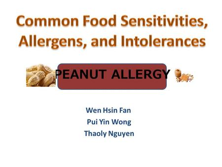 Common Food Sensitivities, Allergens, and Intolerances