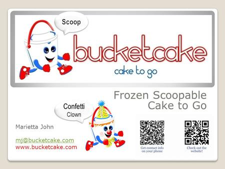Frozen Scoopable Cake to Go Marietta John  Confetti Clown.