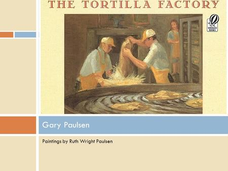 Paintings by Ruth Wright Paulsen Gary Paulsen. Introduction Have you ever eaten a taco? What are the traditional ingredients in a taco? Demonstrate how.