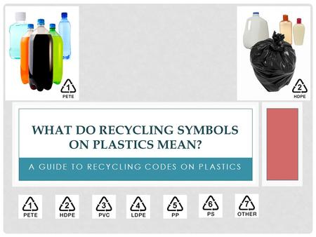 What Do Recycling Symbols on Plastics Mean?