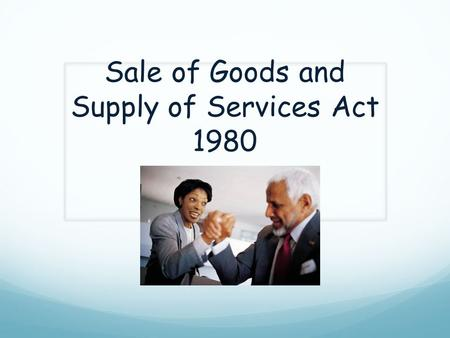 Sale of Goods and Supply of Services Act 1980. Non legislative Personal approach Complain in writing Contact Consumer Association of Ireland Contact Trade.