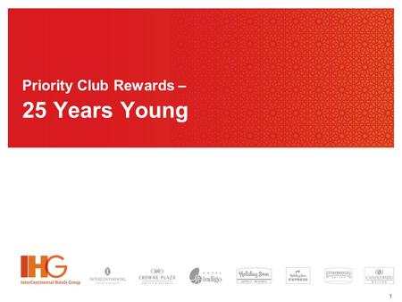 1 Priority Club Rewards – 25 Years Young. 2 3 Customer Insights …… Loyalty I want to be rewarded and recognized for my loyalty.