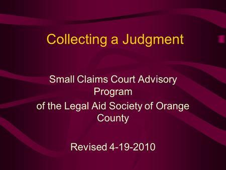 Legal AID Society