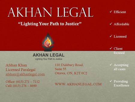 """Lighting Your Path to Justice"""