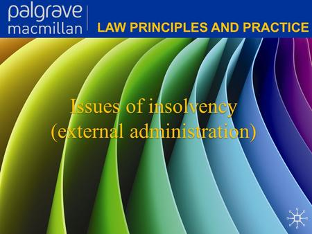 Issues of insolvency (external administration). Corporate Law: Law principles and practice Issues of insolvency (external administration) A company may.