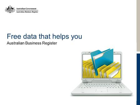Free data that helps you Australian Business Register.