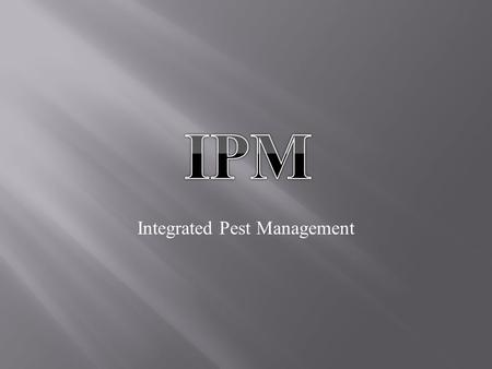 Integrated Pest Management.  IPM is an approach on pest management. It is environmentally sensitive and is effective.  IPM has the advantage to most.