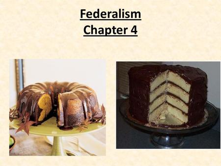 Federalism Chapter 4. Why Federalism? Needed a government strong enough to meet the nation's needs, but still preserve the existing states strength Maintain.