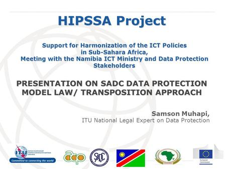 International Telecommunication Union HIPSSA Project Support for Harmonization of the ICT Policies in Sub-Sahara Africa, Meeting with the Namibia ICT Ministry.