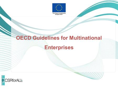 OECD Guidelines for Multinational Enterprises. What are the OECD MNE Guidelines Recommendations from governments to business. Responsible business behaviour.