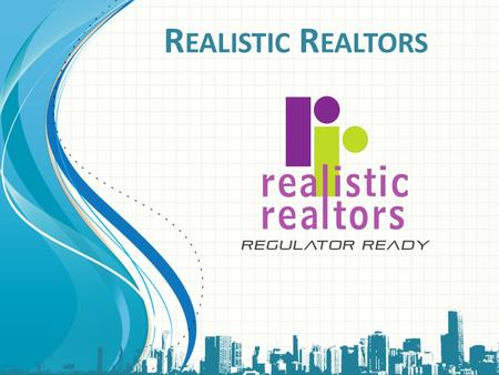 Realistic Realtors This template can be used as a starter file for presenting training materials in a group setting. Sections Sections can help to organize.