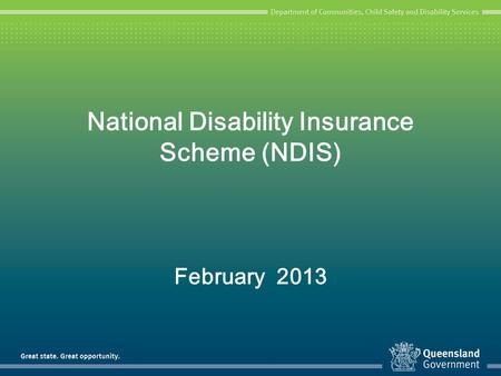 National Disability Insurance Scheme (NDIS)