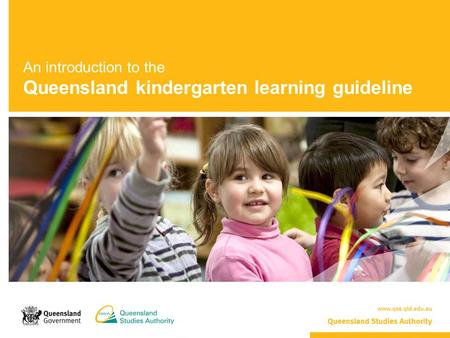 An introduction to the Queensland kindergarten learning guideline.