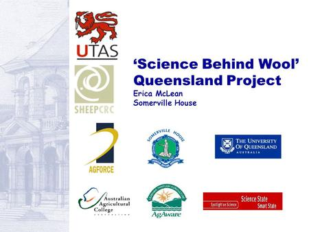 'Science Behind Wool' Queensland Project Erica McLean Somerville House.