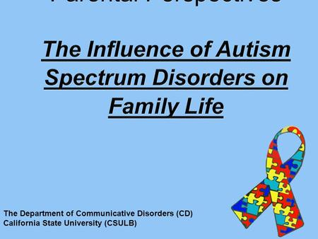 The Department of Communicative Disorders (CD) California State University (CSULB)