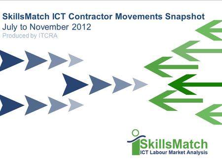 SkillsMatch is an ITCRA Supported Solution Information Technology Contract and Recruitment Association Ltd SkillsMatch ICT Contractor Movements Snapshot.