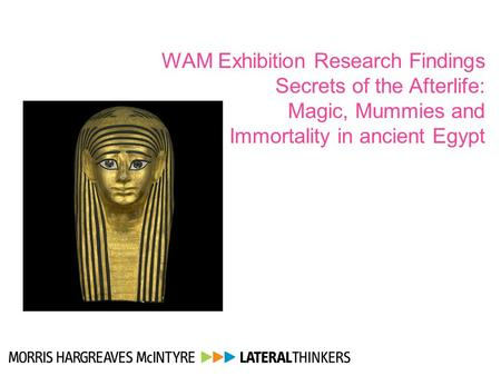 WAM Exhibition Research Findings