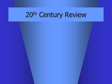"20 th Century Review. SUMMARY – Modernism emphasis on materials or expression instead of illusion a notion of progress & evolution poet Ezra Pound: ""Make."