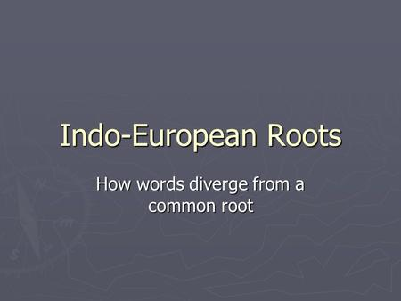 How words diverge from a common root