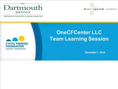 OneCFCenter LLC Team Learning Session