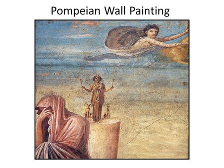 "Pompeian Wall Painting. First Style The First Pompeian style, or ""Structural Style c.150 – 50 BCE, was a common form of house décor and was quite simple."