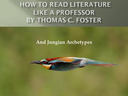an analysis of chapter two of how to read literature like a professor Read how to read literature like a professor sonnets, marked to show your analysis) chapter 5: now, where have i seen her before present examples of the two kinds of violence found in literature show how the effects are different.
