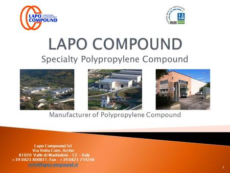Specialty Polypropylene Compound