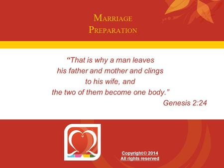 "MARRIAGE PREPARATION ""That is why a man leaves"