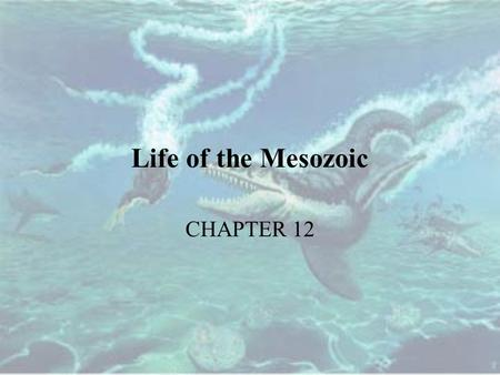 Life of the Mesozoic CHAPTER 12.