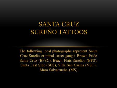 Santa Cruz SureÑo TATTOOS