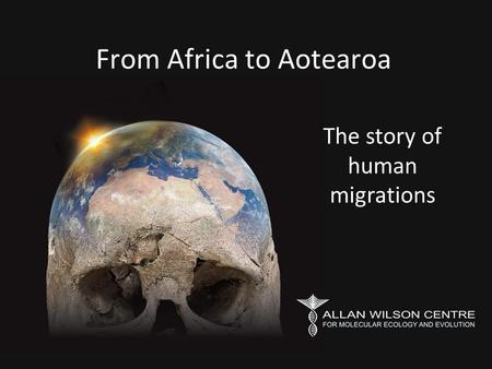 From Africa to Aotearoa The story of human migrations.