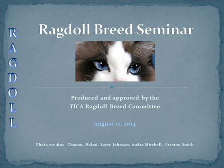 Produced and approved by the TICA Ragdoll Breed Committee